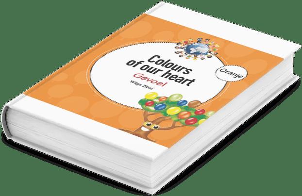 Mockup eboek oranje